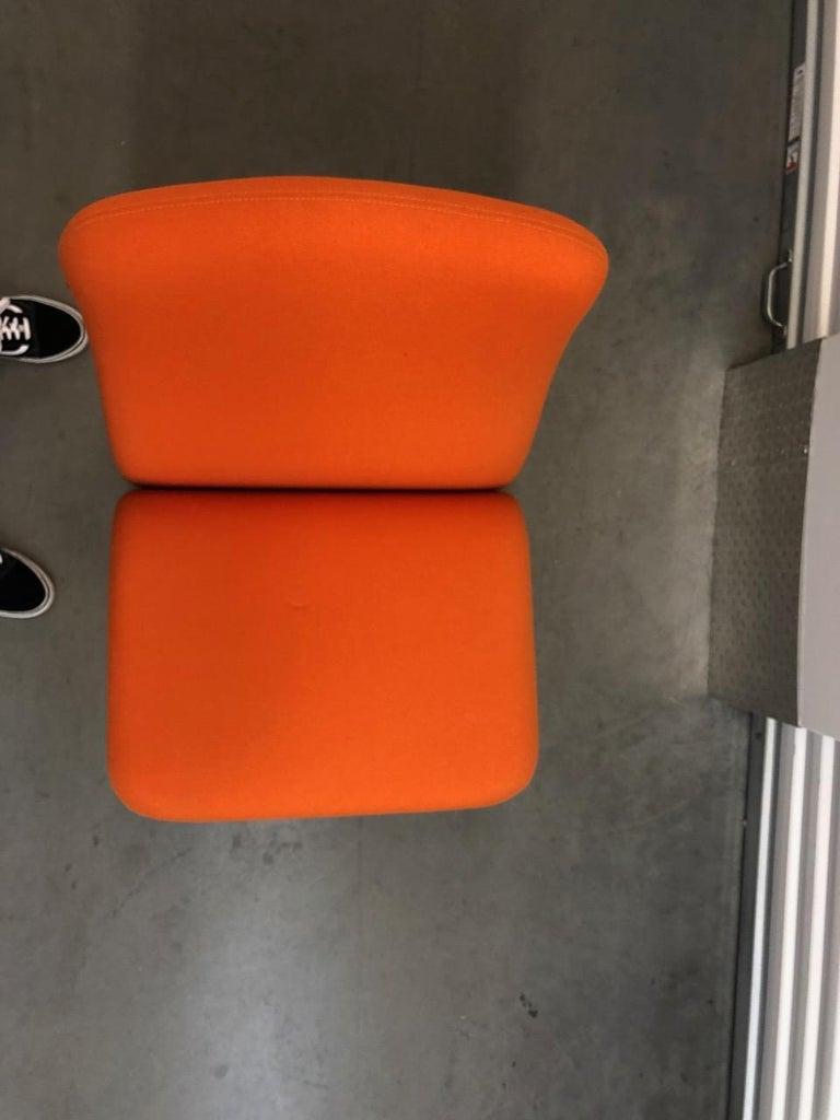 Artifort Classic Orange Low Back Concorde Chair by Pierre Paulin For Sale 8