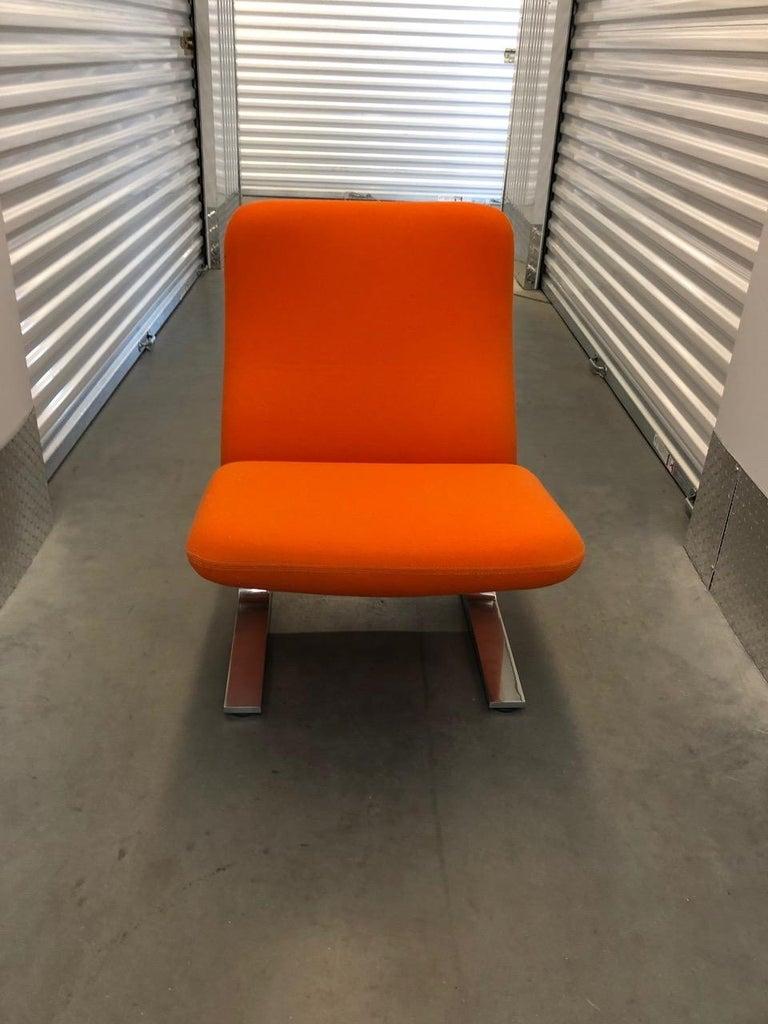 Mid-Century Modern Artifort Classic Orange Low Back Concorde Chair by Pierre Paulin For Sale