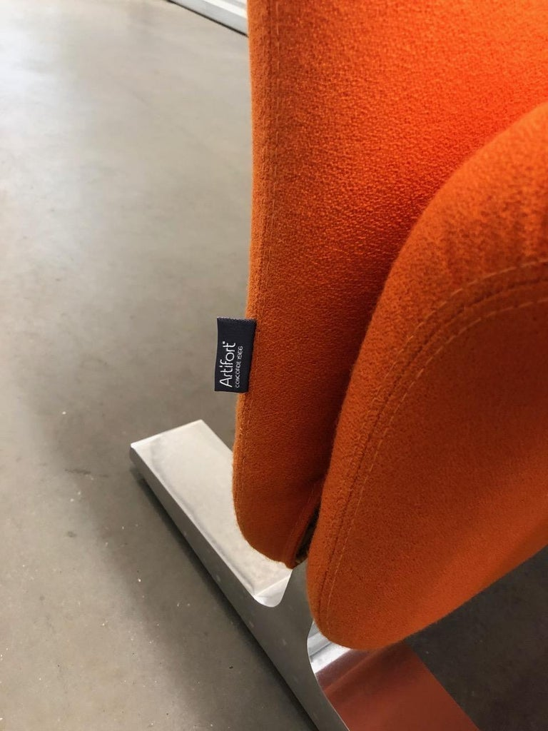 Fabric Artifort Classic Orange Low Back Concorde Chair by Pierre Paulin For Sale