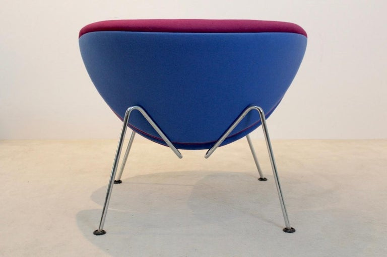 Artifort Slice Fauteuil.Artifort F437 Orange Slice Chair In Pink And Blue By Pierre