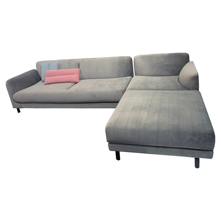 Phenomenal Artifort Figura Gray Velvet Sectional Sofa By Khodi Feiz Alphanode Cool Chair Designs And Ideas Alphanodeonline