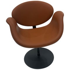 Artifort Leather Pierre Paulin Little Tulip Chair