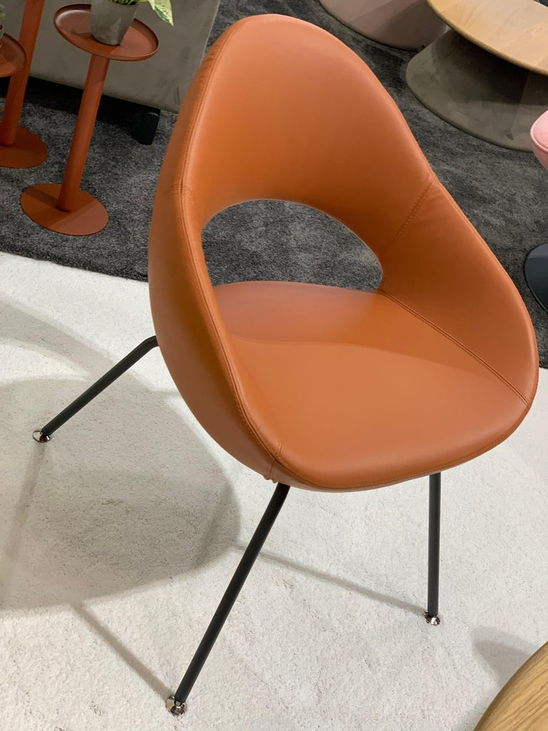 Dutch Artifort Leather Shark Chair by Rene Holten For Sale
