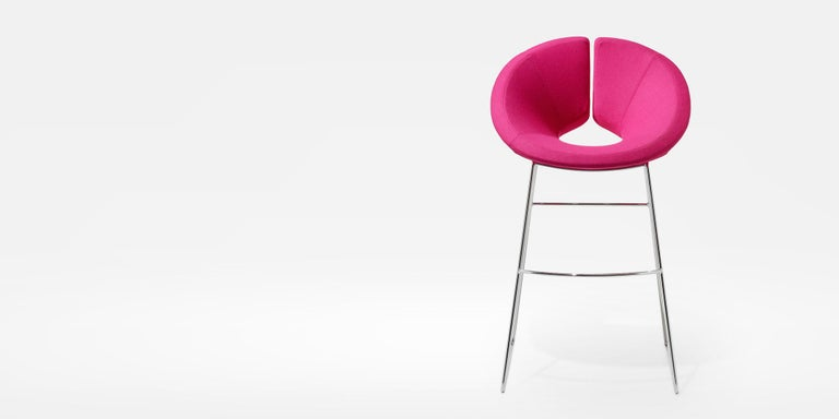 Modern Artifort Little Apollo Barstool in Pink by Patrick Norguet For Sale