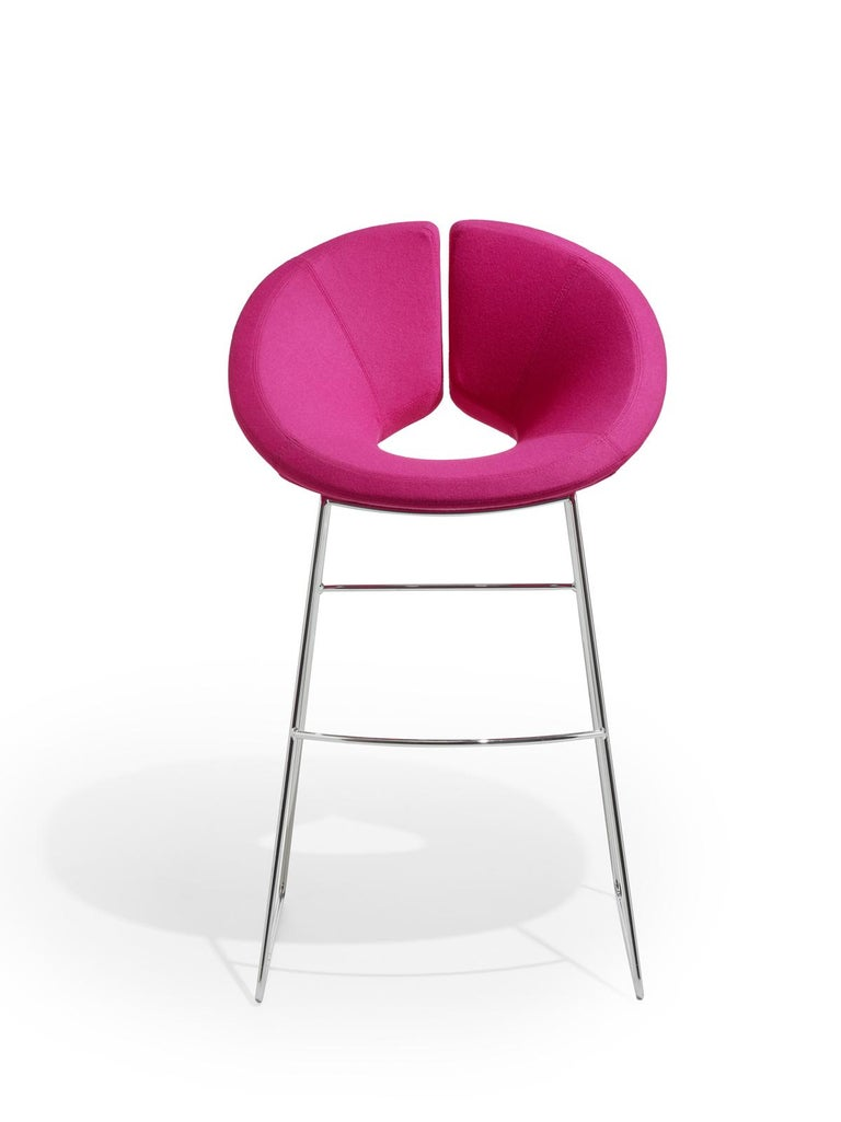 Dutch Artifort Little Apollo Barstool in Pink by Patrick Norguet For Sale