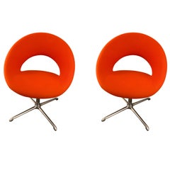Artifort Nina Set of Two Swivel Chairs Designed by René Holten