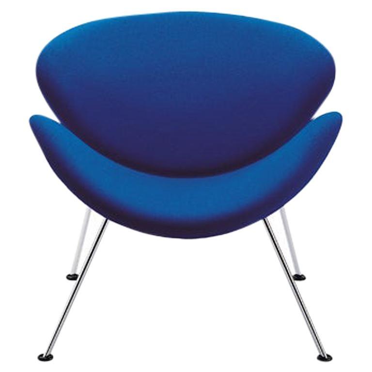 Artifort Orange Slice Armchair in Blue by Pierre Paulin For Sale