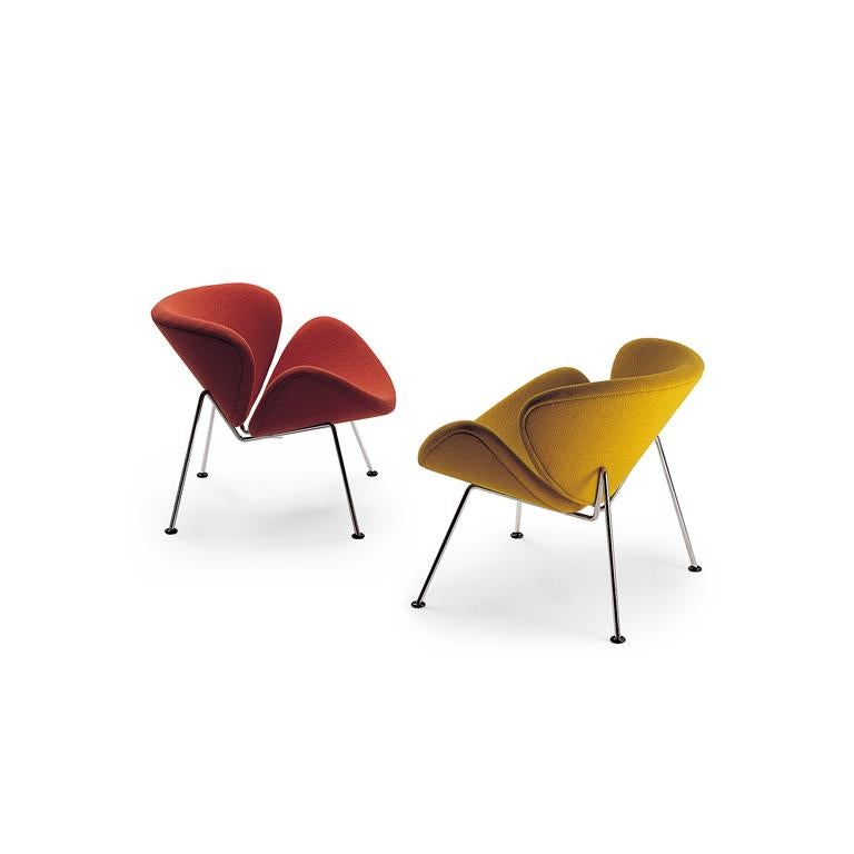 Artifort Orange Slice Armchair in Burnt Orange by Pierre Paulin In New Condition For Sale In New York, NY