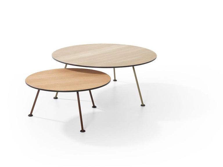 Modern Artifort Orange Slice High Coffee Table in Oak by Pierre Paulin For Sale