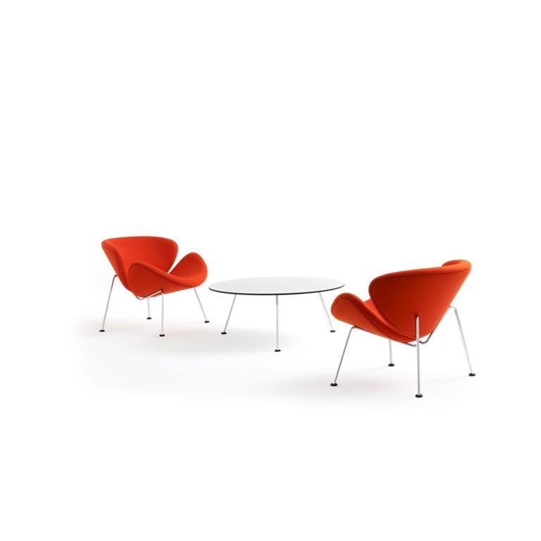 Dutch Artifort Orange Slice Low Coffee Table in White by Pierre Paulin For Sale