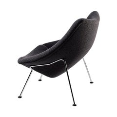 Artifort Oyster Armchair in Dark Grey by Pierre Paulin