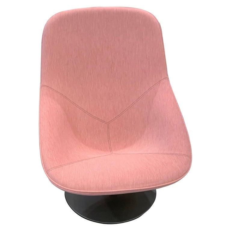 Artifort Pala Giro Pink Swivel Lounge Chair For Sale