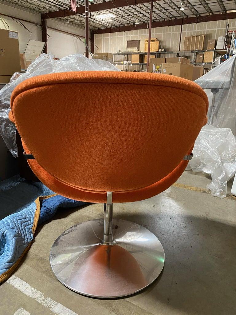 Mid-Century Modern Artifort Pierre Paulin Swivel Orange Tulip Midi Lounge Chair For Sale