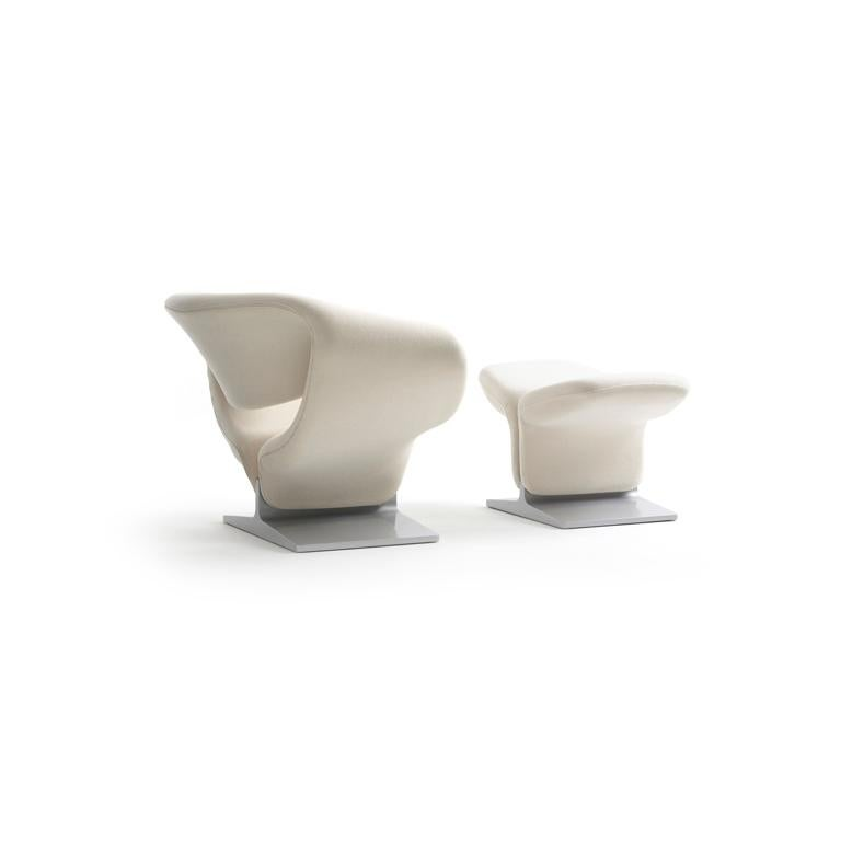 Modern Artifort Ribbon Chair in White by Pierre Paulin For Sale