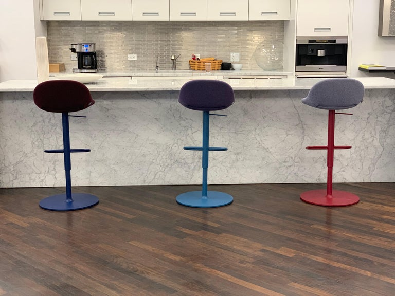 Artifort Set of Three Beso Adjustable Swivel Stools by Khodi Feiz For Sale 2