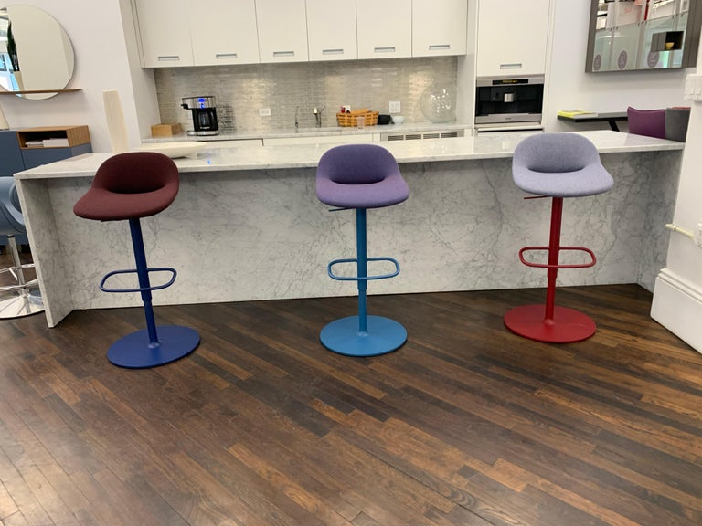 Artifort Set of Three Beso Adjustable Swivel Stools by Khodi Feiz For Sale 3