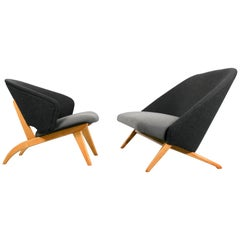 "Artifort sofa ""congo"" & matching rare lounge chair by Theo Ruth, 1950s"