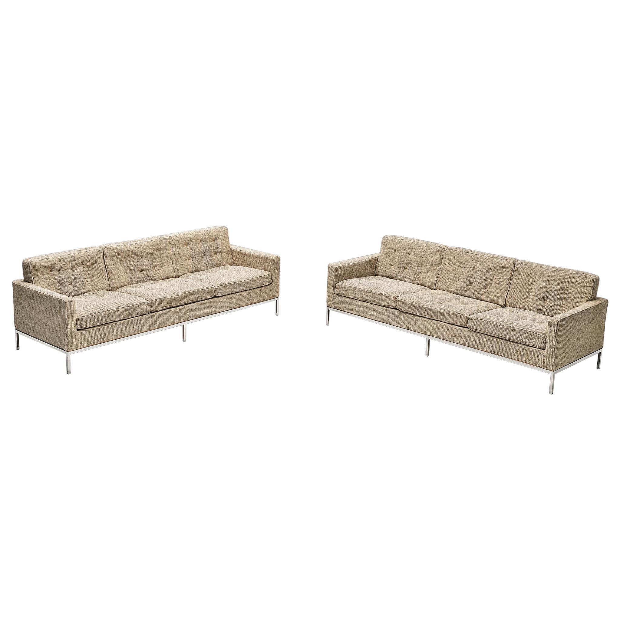 Artifort Sofa Model '905' in Metal and Fabric Upholstery