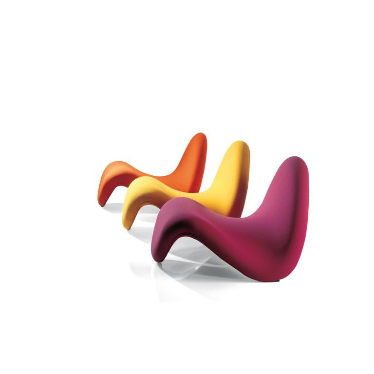 Dutch Artifort Tongue Lounge Chair in Red by Pierre Paulin For Sale