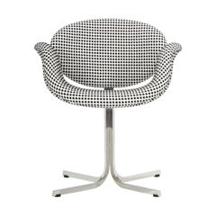 Artifort Tulip Midi Armchair in White with Cross Base by Pierre Paulin