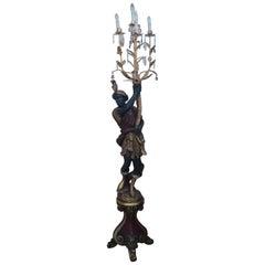 Artinka Light Bearer Blackamore Lamp Sculpture