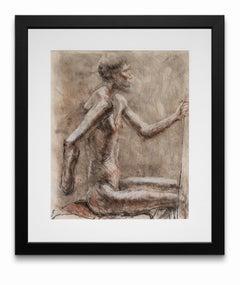 """Ancient Man"", Mixed Media on Paper"
