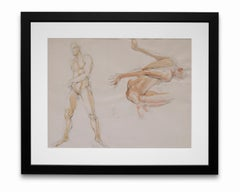 """""""Nude Study #2"""", Watercolor and Graphite on Paper"""