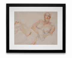 """""""Nude Study"""", Watercolor and Graphite on Paper"""