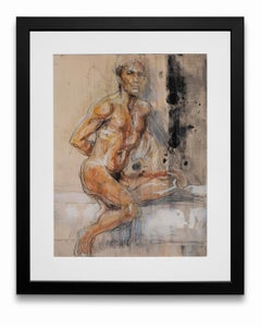 """""""Seated Nude"""", Mixed Media on Paper"""