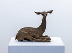 """Giraffe Deer"" Bronze Sculpture, Figurative, Animal"