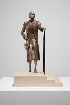 """Rosa Parks Ascending Steps"" Bronze, Portrait, Iconic Figure, Historical Scene"