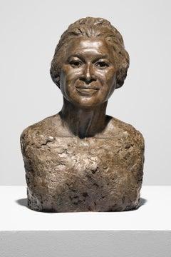 """""""Rosa Parks"""" Bronze Sculpture, Figurative, Female, Portrait"""
