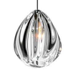 Artisan Blown Glass Shade • Clear Barnacle Pendant Light, Made to Order