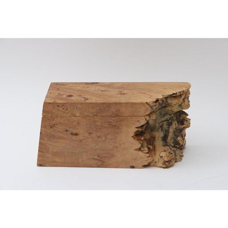 Artisan Burl Wood Box by Michael Elkan For Sale 4