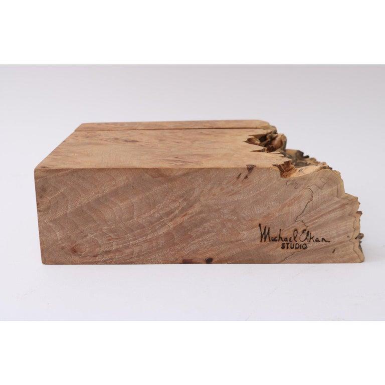 Organic Modern Artisan Burl Wood Box by Michael Elkan For Sale