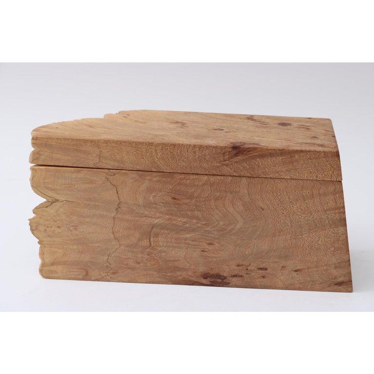 Artisan Burl Wood Box by Michael Elkan For Sale 1