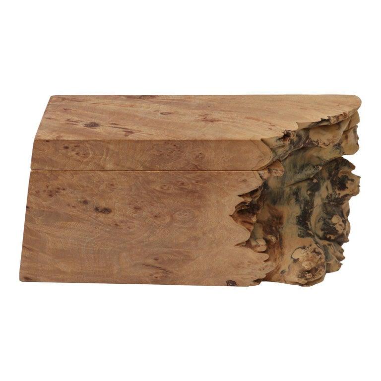 Artisan Burl Wood Box by Michael Elkan For Sale 2