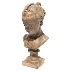 Artisan Carved Head of a Young Girl