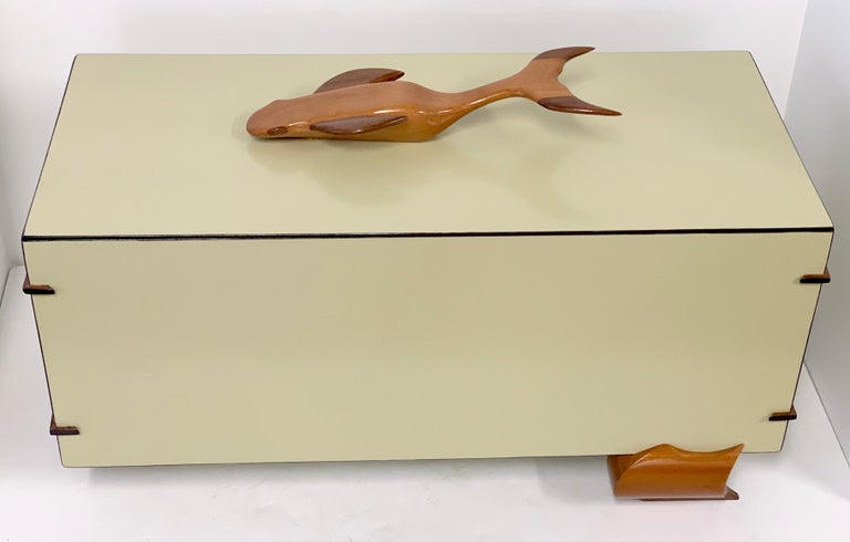 American Artisan Craftsman Whale Top Box For Sale