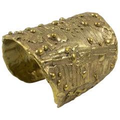 Artisan Designer Studio Brutalist Brass Cuff Bracelet