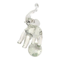 Artisan Glass Elephant