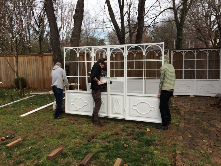 Artisan-Made Welded Steel Greenhouse with Glass Panes For Sale 6