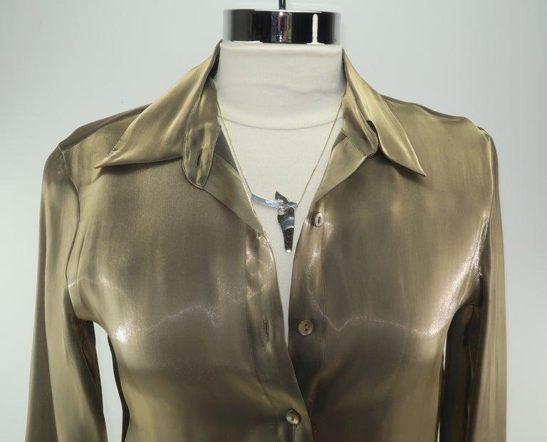 Artisan Modernist Sterling Silver Gun Pendant Necklace For Sale 8