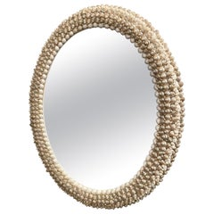 Artisan Pearl Inspired Shell Oval Mirror