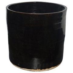 """Artisan Series Glazed Terracotta Planter """"Oscuro"""""""