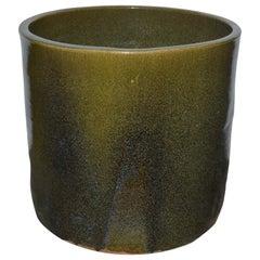 """Artisan Series Glazed Terracotta Planter """"Verde"""""""