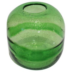 Artisan Translucent Greens Glass Vase