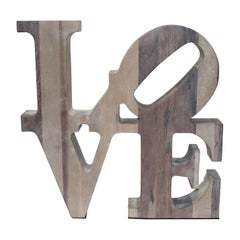 Artisan Wood LOVE Assemblage after Robert Indiana