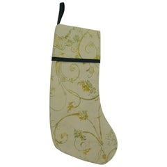 Artisanal Green Holiday Gift Stocking Double-Sided