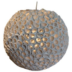 Artisanal Italian Craft Organic Inspired Ceramic Hanging Light